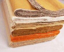 สี่เท้าจีนxuanกระดาษข้าวครึ่งดิบประกาศยาว ไฟเบอร์ป่านกระดาษภาพวาดการประดิษฐ์ตัวอักษรสร้างแฮนด์เมดแบบดั้งเดิม