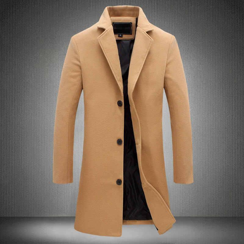 MRMT 2019 Брендовые мужские куртки длинный однотонный однобортный Тренч Пальто Повседневное пальто для мужской куртки верхняя одежда