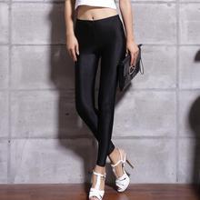 Nieuwe 20 Snoep Kleuren Solid Fluorescerende Leggings Vrouwen Casual Plus Size Multicolor Glanzende Glossy Legging Vrouwelijke Elastische Broek