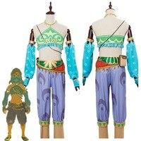 The Legend of Zelda Breath of the Wild Cosplay Costume Female Zelda Link Cosplay Costume Gerudo Halloween Carnival Costumes