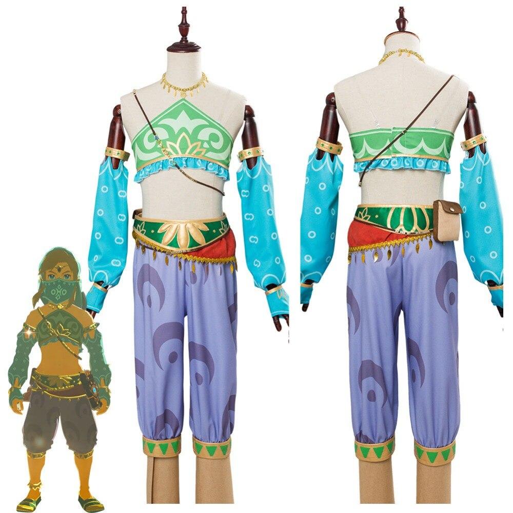 The Legend of Zelda Respiro della Natura Selvaggia Costume Cosplay Zelda Link Cosplay Costume Femminile Gerudo Halloween Costumi di Carnevale