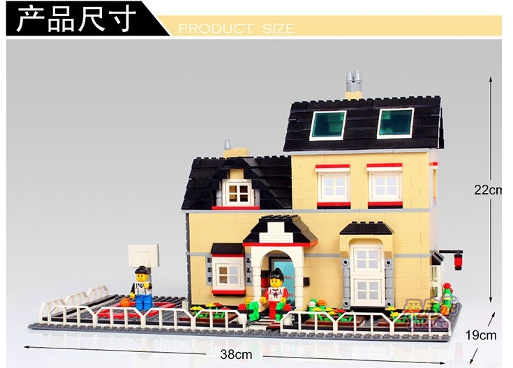 Model building kits compatible with lego Villa Series 3D blocks Educational mode
