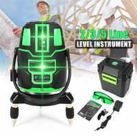 2/3/5 kruis Lijnen Indoor/Outdoor Groene Laser Niveau Zelfnivellerende 360 Rotary Measure Tool set US Plug Radius Afwisselend Direct