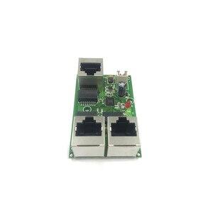 Image 2 - תעשייתי כיתה רחב טמפרטורה נמוך כוח רשת כבלים מיני מיני Ethernet 3 נמל 10/100 Mbps אנכי 180 degreeswitchmodule