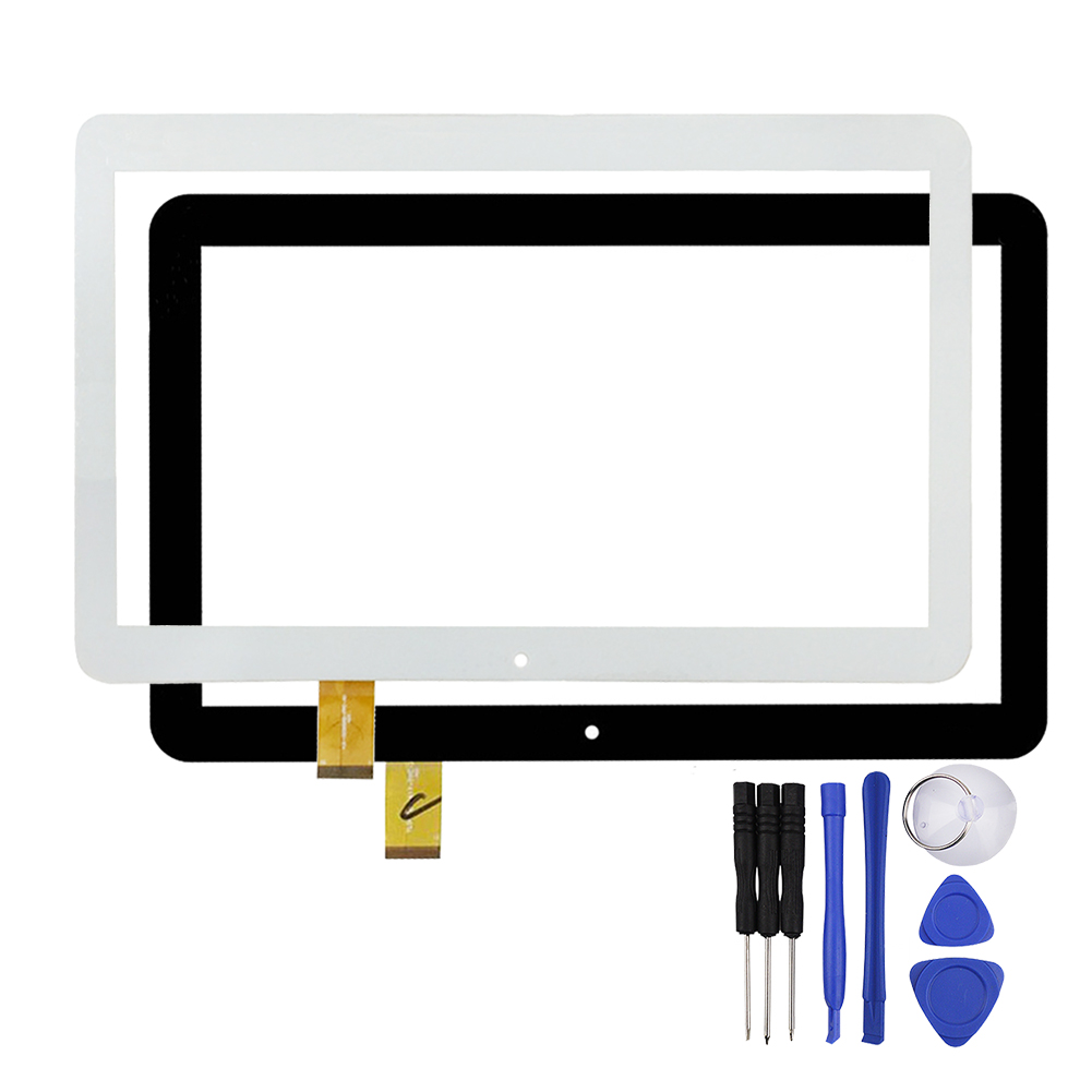 New 10.1 inch Black/White Touch Screen YLD-CEGA566-FPC-A0 for Digma Optima 10.4 3g tt1004pg Lens Digitizer Sensor Replacement планшет digma plane 1601 3g ps1060mg black
