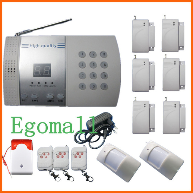 6 Door Sensor 99-Zone Voice Wireless PSTN Burglar Home Security Alarm Systems With Auto Dialer  S215