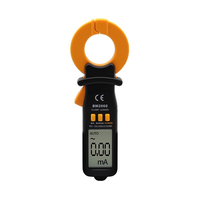 SZBJ BM2060 Micro Atual de Detecção De Vazamento De Vazamento Pinça de Corrente do Medidor 20mA ~ 60A Automático Inteligente Faixa Digital Clamp Meter