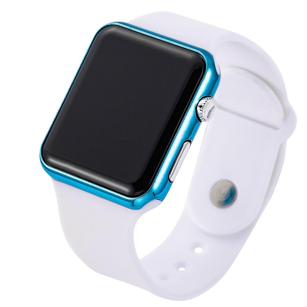 2019 nowy różowy Casual zegarki kobiety zegarek LED sportowy cyfrowy mężczyźni zegarek silikonowy kobiety zegarek Reloj Mujer Erkek Kol Saati 3