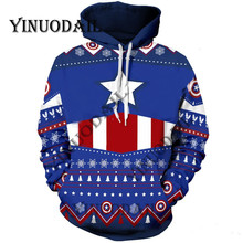 Fans Made Deadpool 3D Printed Hoodies for Marvel Venom Spiderman Fa Captain America Chrismas Cosplay Men Sweatshirt ns