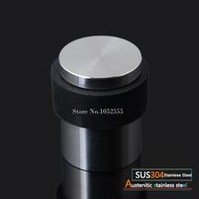 цена на 2PCS 304 Stainless Steel + Rubber Floor mounted Door Stop Door Stopper Doorstops Wire Drawing/Drawing Gold K182
