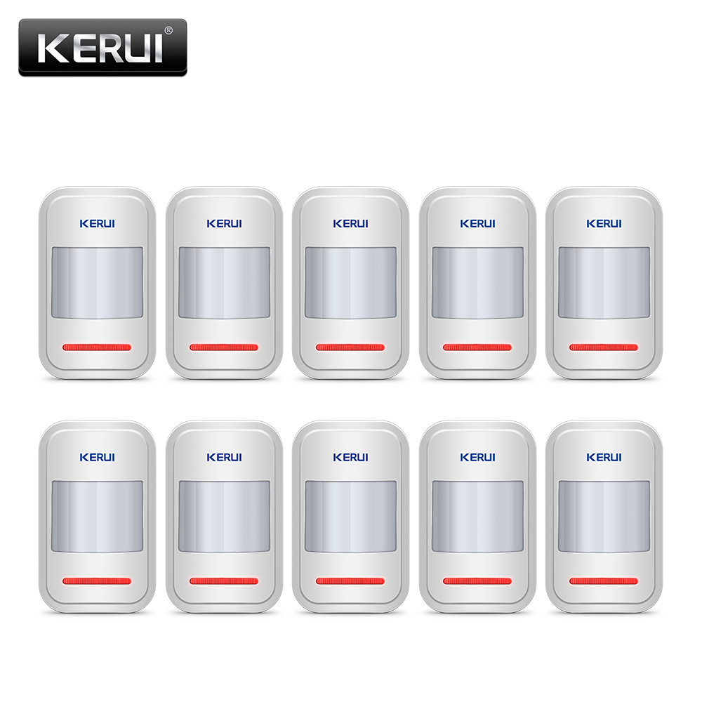 Image 5 - KERUI 433Mhz Rechargeable 5V USB Wireless PIR Motion Sensor Detector for Touch Keypad Panel Home Security Burglar Alarme System-in Sensor & Detector from Security & Protection