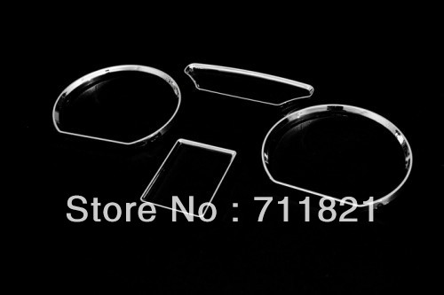 Car Styling Chrome Dash Gauge Ring Set For Volkswagen For VW Polo 9N