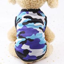 Printed Mesh Camouflage Cartoon Vest Multicolor Optional Color Dog Cat Clothes Pet Clothing