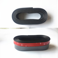 New Black Soft Carbon fiber Rubber Car bumper Strip 2.5m length Exterior Front Bumper for kia rio for seat leon ibiza vw golf