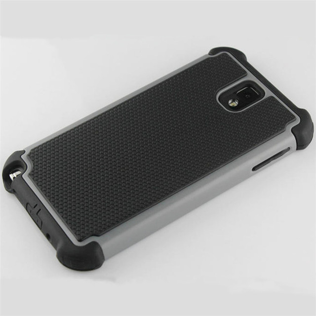 Ball Grain Plastic Defend Case Shockproof Cover For Samsung Galaxy Note III 3 N9000 N9002 N9005 Hybrid Back Cover