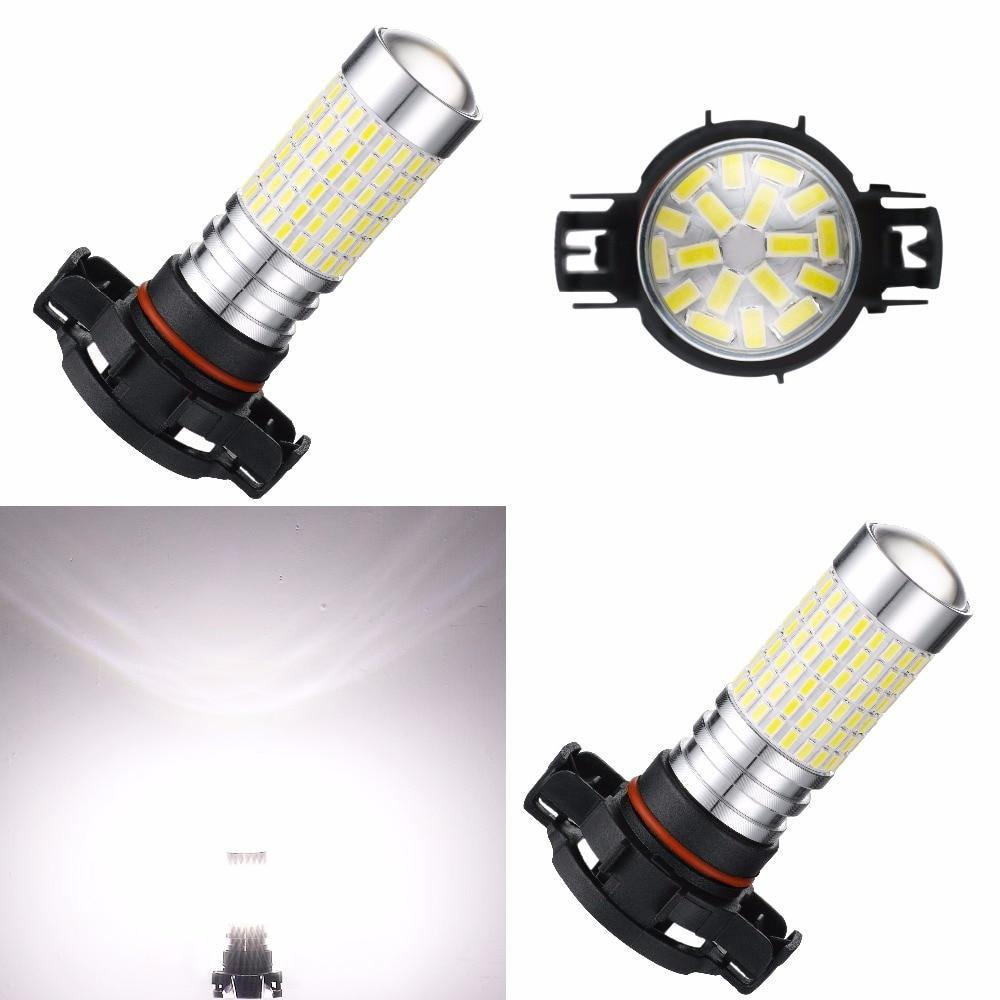 AGLINT 2PCS H16 5202 2504 LED Car Fog Lights Driving Daytime Running Lamp DRL 3014 SMD