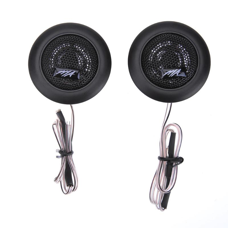 2Pcs Car Loud Speaker Dome Tweeter 120W High Power Dome Tweeter Audio Auto Sound Component Loudspeakers for Car Stereo
