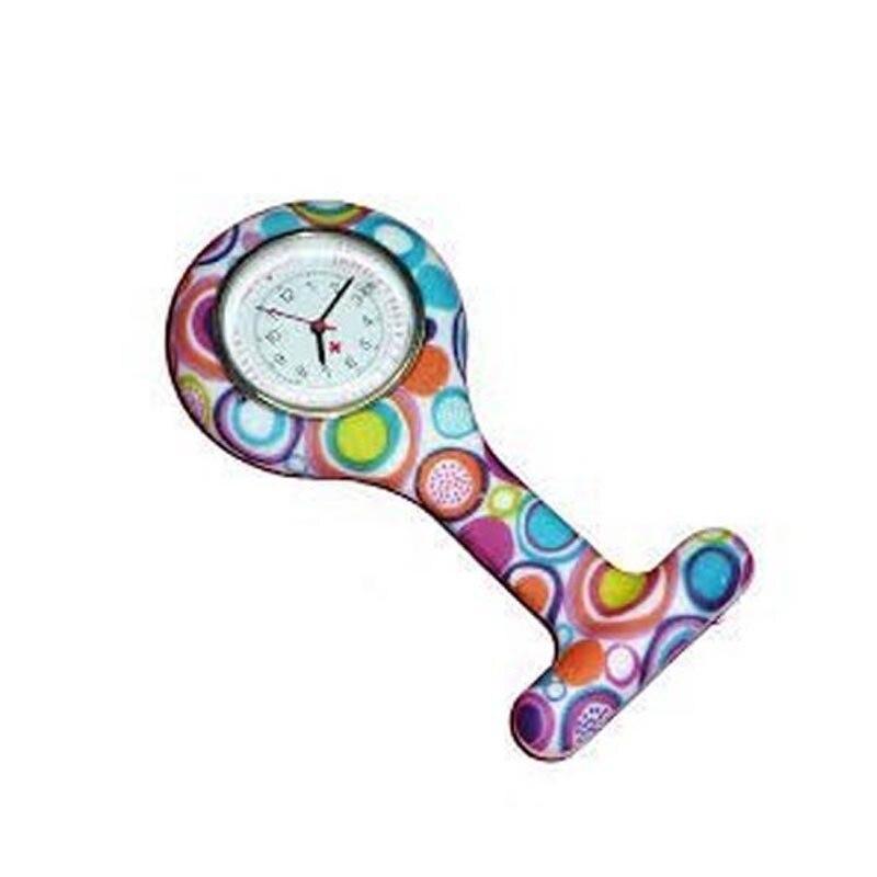 купить #5001 Fashion Leisure High Quality Watch Colored Circles Nurse Clip-on Fob Brooch Pendant Hanging Pocket Watch по цене 133.96 рублей