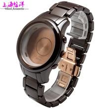Часы аксессуаров действительно коричневый чехол адаптация AR1454 керамика может быть единой купить циферблат и a ремешок для часов
