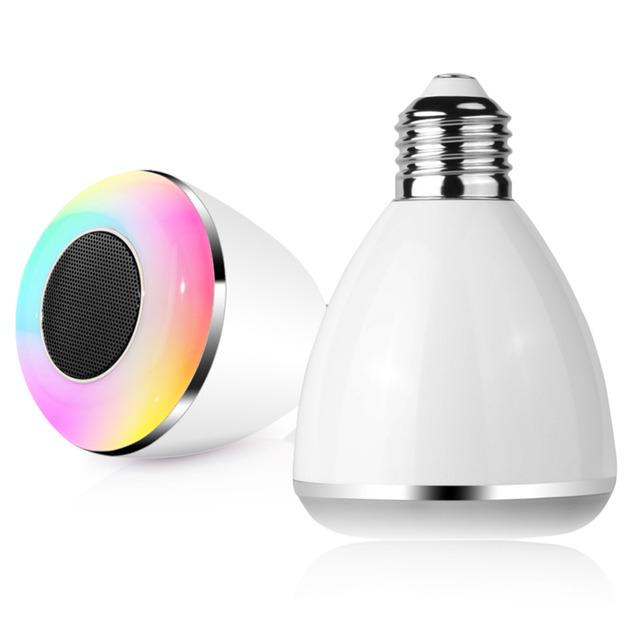 Sem fio bluetooth 9 W LED Speaker bulb Speaker áudio E27 RGB música jogando & Lighting inteligente colorido bola bolha da lâmpada