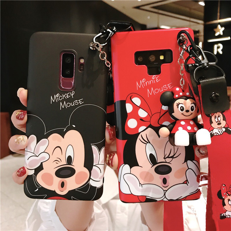 Sam S10 lite Cute minnie mickey case, Cartoon daisy Soft back cover For Samsung Galaxy S10 S9 S8 plus Note 8 note9 + toy +StrapSSam S10 lite Cute minnie mickey case, Cartoon daisy Soft back cover For Samsung Galaxy S10 S9 S8 plus Note 8 note9 + toy +StrapS