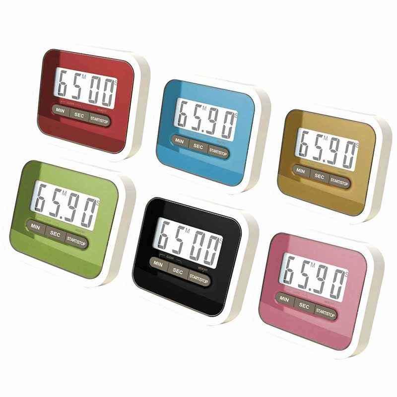 5 colores vida útil práctica uso Digital gran pantalla LCD hogar cocina temporizador electrónico cocina temporizador cronómetro