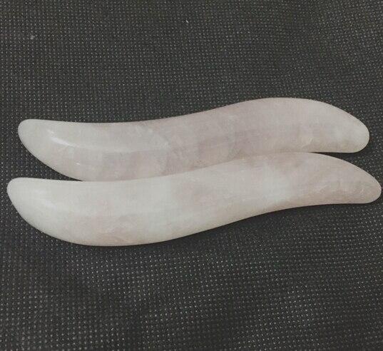 2 pcs Natural rose quartz body massage wand face massage wand reiking healing relax tool acupunture point stick 100%natural crystal rose quartz reiking healing wand pleasure wand body massage wand