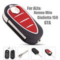 3 Buttons Flip Folding Car Key shell For Alfa Romeo Mito Giulietta 159 GTA 147 156 166 GT  With Uncut Blade Keyless Entry Case