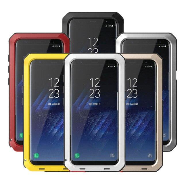Chịu Lực Bảo Vệ Doom Giáp Kim Loại Nhôm Ốp Lưng Điện Thoại Samsung Galaxy S5 S6 S7 Note 3 4 5 8 9 Edge S8 S9 Plus