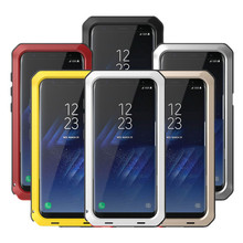 Heavy Duty Schutz Doom rüstung Metall Aluminium telefon Fall für Samsung Galaxy S5 S6 S7 Hinweis 3 4 5 8 9 rand S8 S9 Plus Abdeckung