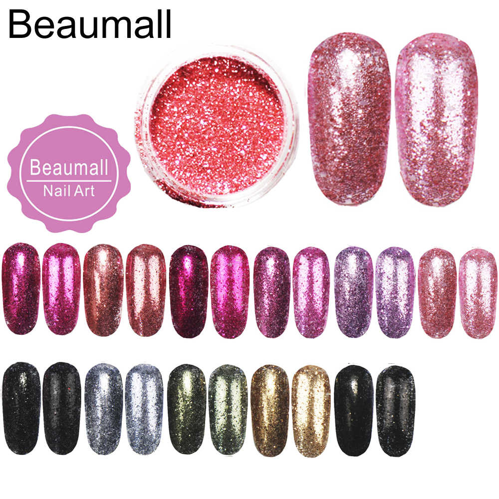 2.5g/pot, 0.2mm (1/128 008) Metallic Regular Color Glitters Acrylic Dazzling Glitters Dusts For Nail,Tatto Art Decorations