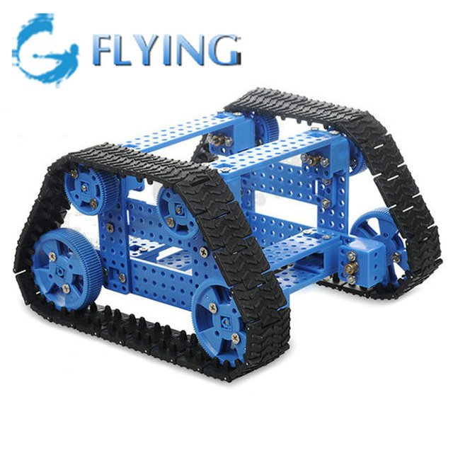 Inteligente BRICOLAJE Trapezoidal Seguimiento de Coches Kit Robot de Juguete con Control Remoto
