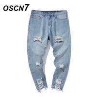 OSCN7 2018 Streetwear Loch knöchellangen Hosen Männer Hip Hop Trend Denim Röhrenjeans Männer Plus Größe 5xl Herren Jeans Marke