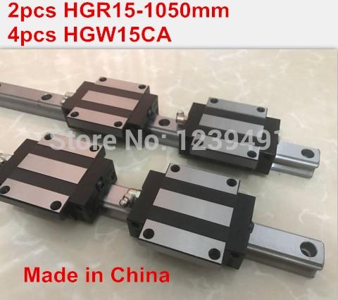 HG linear guide 2pcs HGR15 - 1050mm + 4pcs HGW15CA linear block carriage CNC parts 2pcs sbr16 800mm linear guide 4pcs sbr16uu block for cnc parts