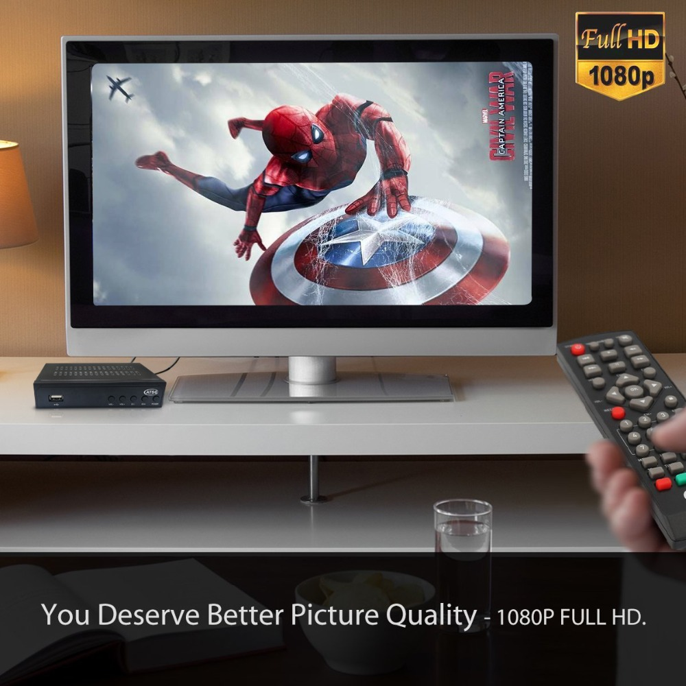 Atsc Terrestrial HD Digital Receiver ATSC T Dolby Ac3 TV Receiver Tuner For USA Mexico Canada Korean