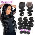 Malaysian Body Wave With Closure 3 Bundles Malaysian Virgin Hair With Closure Peerless Virgin Hair With Closure