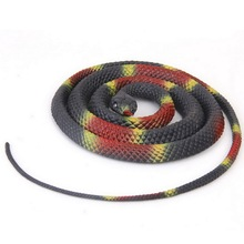 125cm Gags and Practical Jokes Plastic Simulation Snake Tricky Props Kids Toys Novelty and Gag Toys
