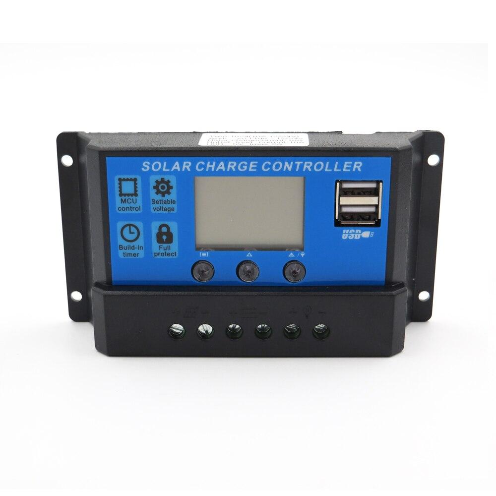 6V 12V 10A Solar Panel Charge Controller Battery Ladegerät Regulator PWM L2KS