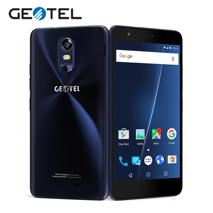 Original GEOTEL Note 4G Mobile Phones MT6737 Quad Core 16G ROM 3G RAM Android M 5