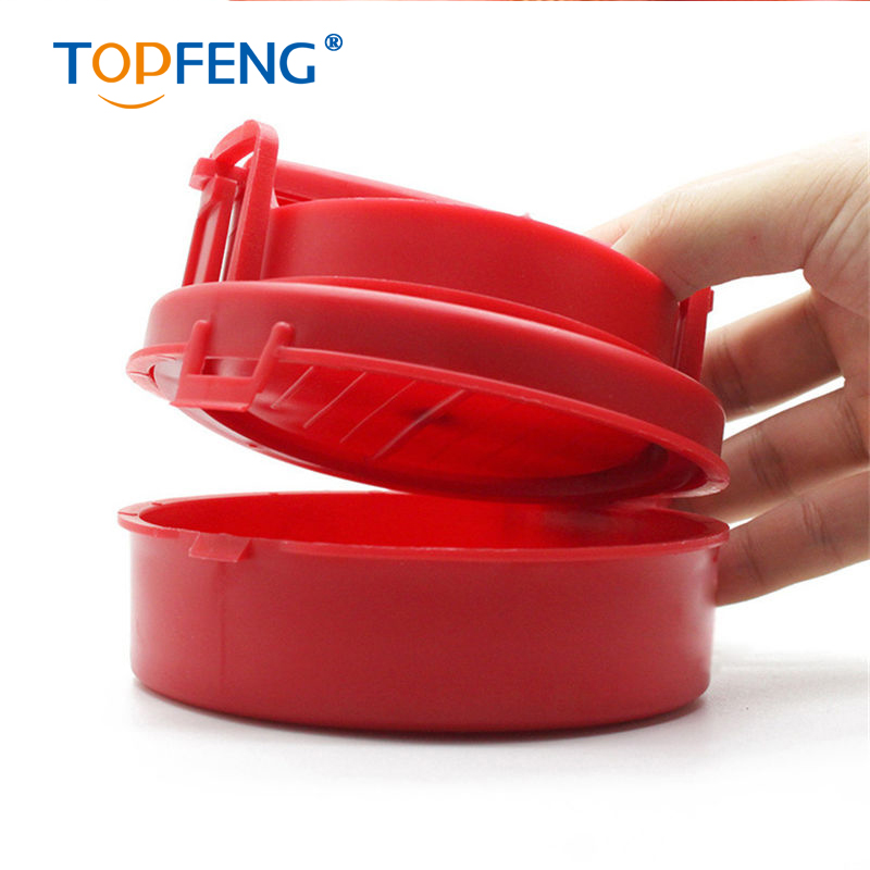 Plastic Red Hamburger Mold Round Patties Mold Maker BBQ Meat Machine Kitchen Dining Cooking Bar Tool