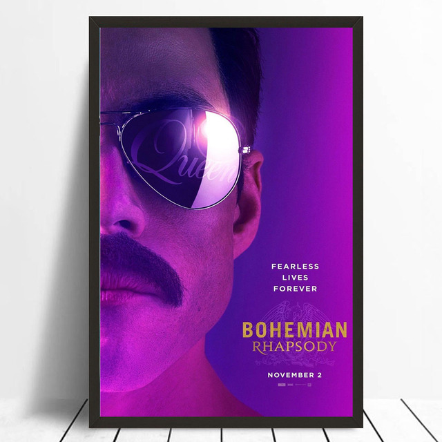 0a528d0d4097e US $5.3 10% OFF|MQ3723 Bohemian Rhapsody Musical 2018 Movie Rami Malek  Queen Film Art Poster Silk Canvas Home Decoration Wall Picture Printings-in  ...