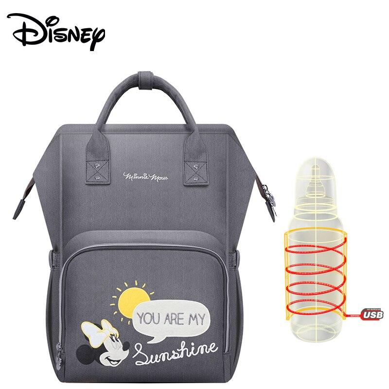 Disney обновленная версия Термальность изоляции мешок высокой емкости детские бутылочки сумки пеленки сумки Оксфорд USB изоляции сумки