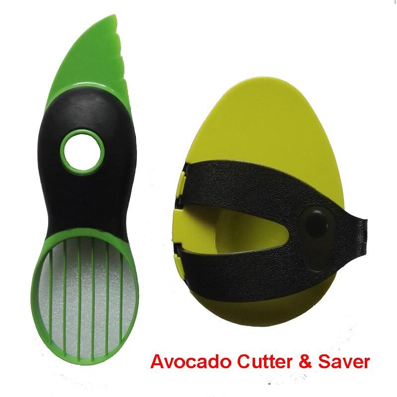 Freies Verschiffen 2 teil/satz Küche Werkzeuge Obst Cutter Avocado Messer und Frischhaltung Saver Frisch Halten