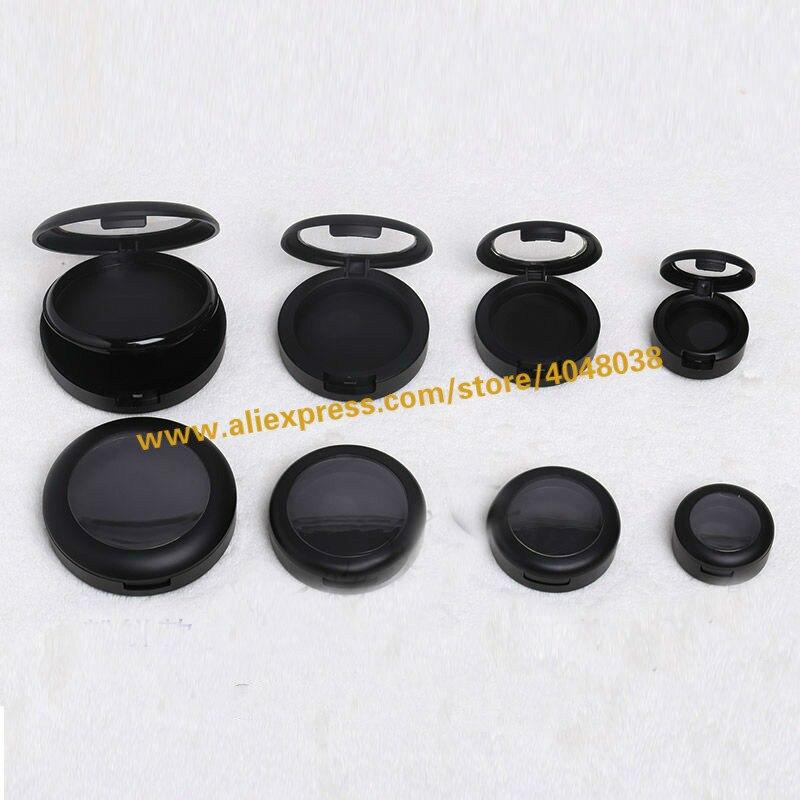 30pcs lot 36mm Black Empty Plastic Eyeshadow Powder Compact 44mm Elegant High Class Blusher Container Professional