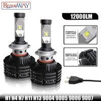 BraveWay LED Light Bulbs for Cars HB3 9005 HB4 9006 Led Bulbs H1 H7 H13 9004 9007 LED Headlight Bulb Fog Lamp Fog Lgiht Ice Lamp