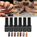 1pcs Brown Gold Gel Soak-off UV Gel Nail Polish 6ml Soak-off Color Gels Varnish For Long-lasting Gel Nail Art Design Pro Salon