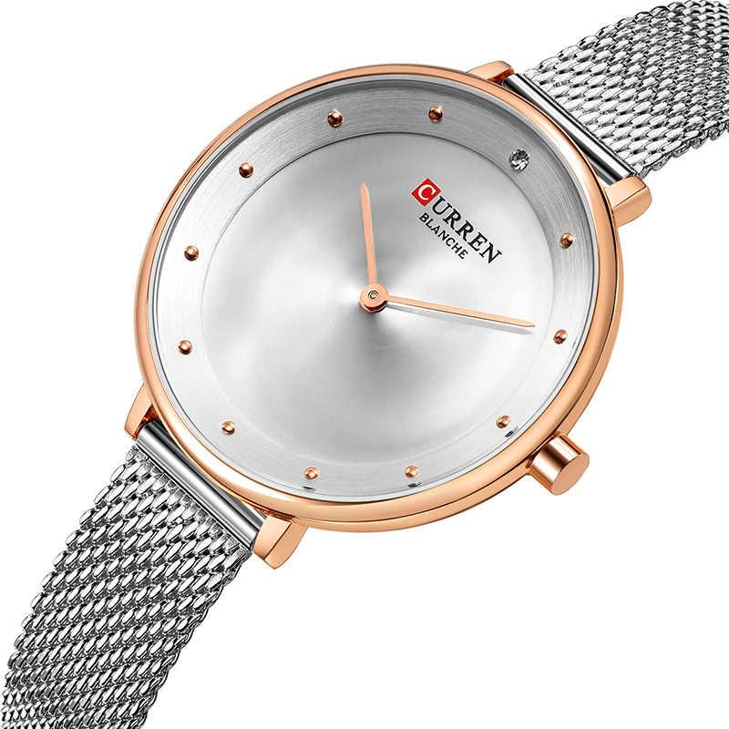 2018 CURREN נשים שעונים נירוסטה יוקרה שמלת שעון גבירותיי קוורץ אנלוגי עמיד למים שעון יד Montre Femme