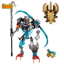 BionicleMask of Light XSZ 710-1 Children's Skull Warrior Bionicle Building Block Toys Compatible with Legoings Bionicle(China)
