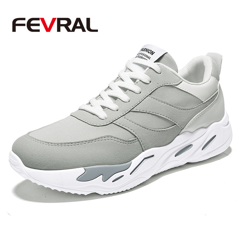 FEVRAL Men Sneakers Breathable Cushioning Newest Men Running Shoes Comfortable Outdoor Sports Shoes for Jogging Walking Men