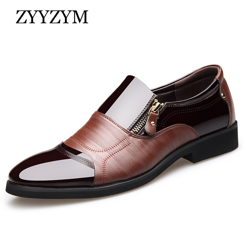 ZYYZYM Men Formal Shoes Lace-up Tip Style Oxford Business Dress Shoes Formal Office For Male Shoes